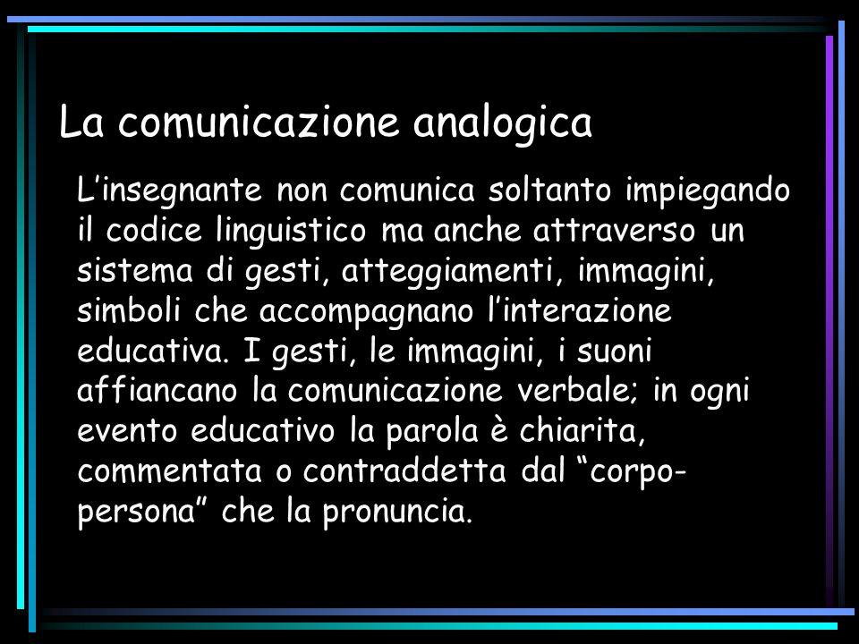 La comunicazione analogica