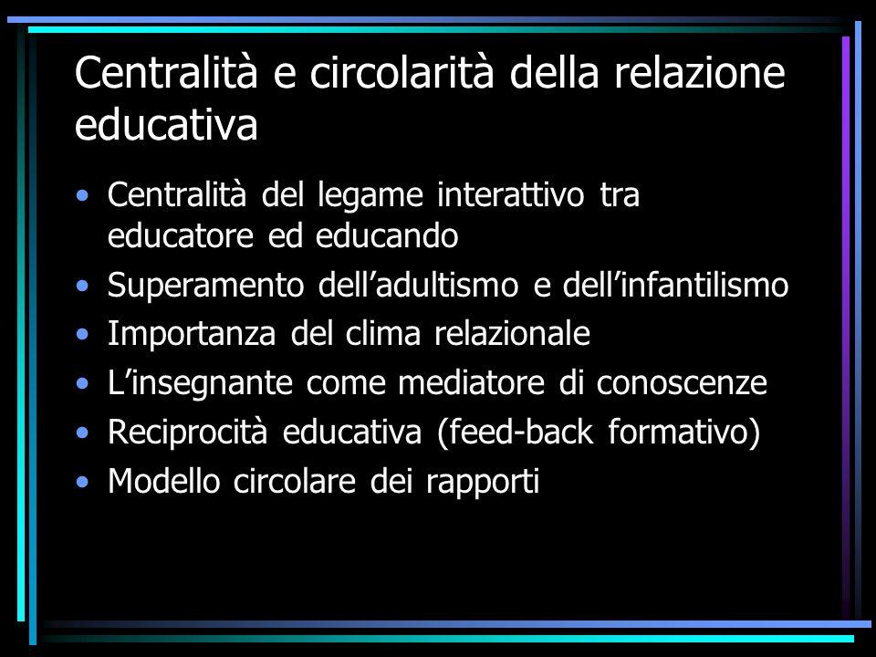 Centralità e circolarità della relazione educativa