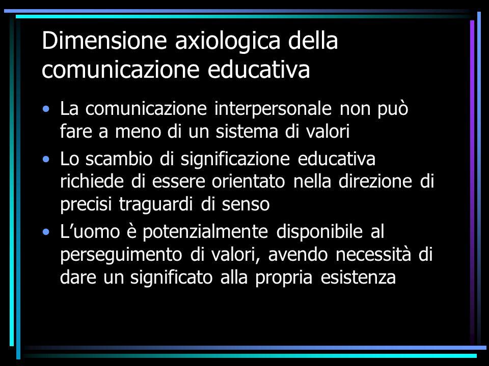Dimensione axiologica della comunicazione educativa