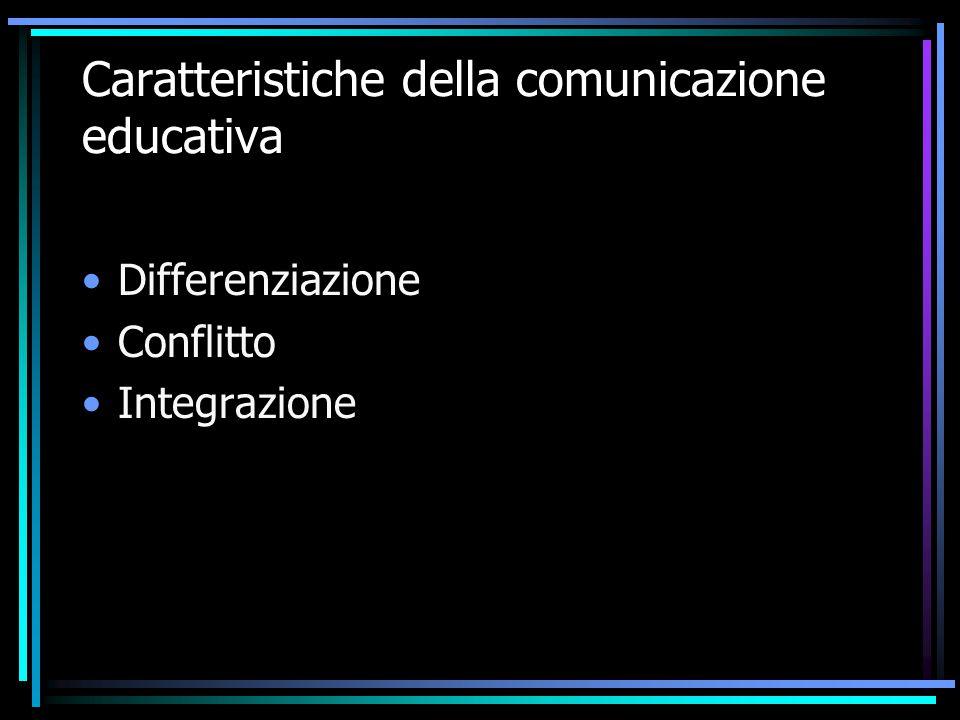 Caratteristiche della comunicazione educativa