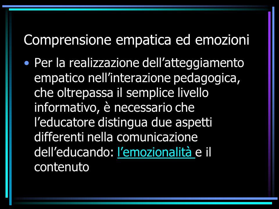 Comprensione empatica ed emozioni