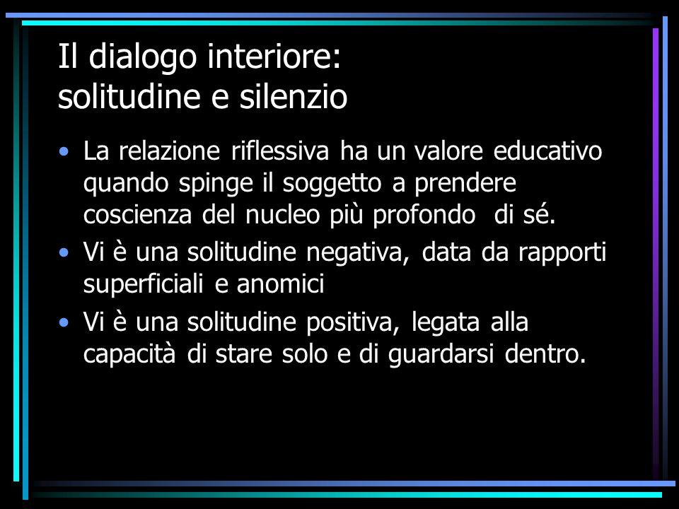 Il dialogo interiore: solitudine e silenzio