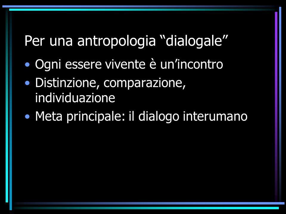 Per una antropologia dialogale