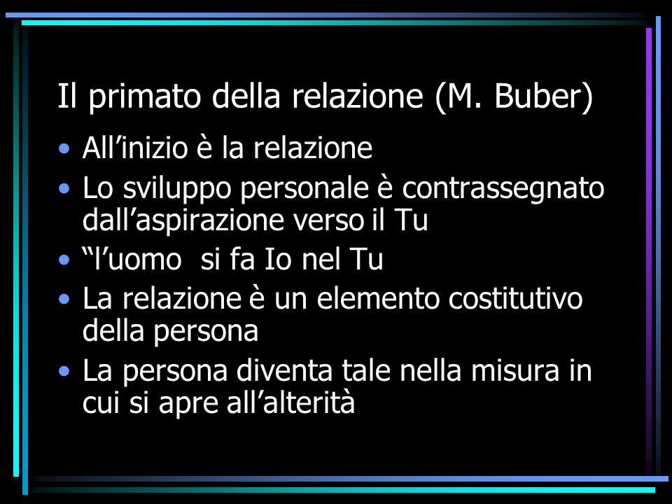 Il primato della relazione (M. Buber)