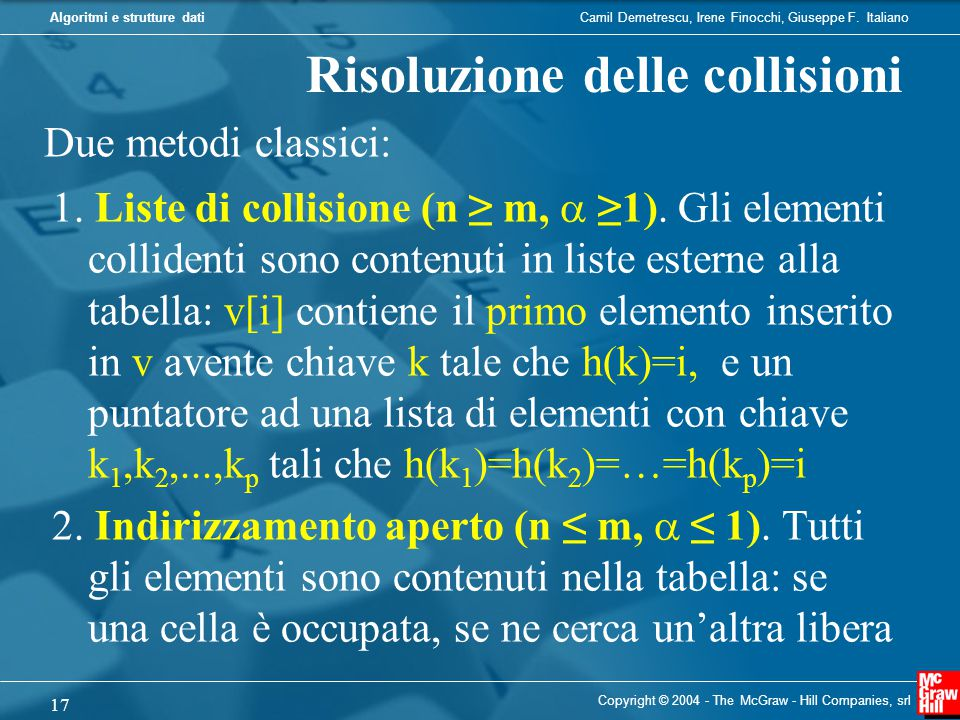 Risoluzione delle collisioni