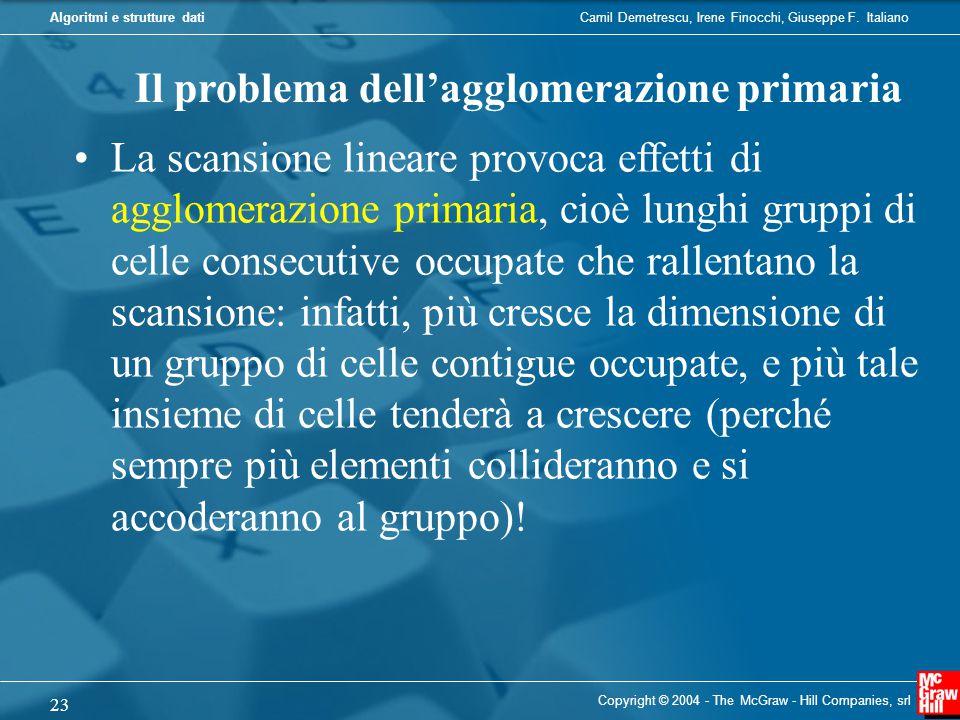Il problema dell'agglomerazione primaria