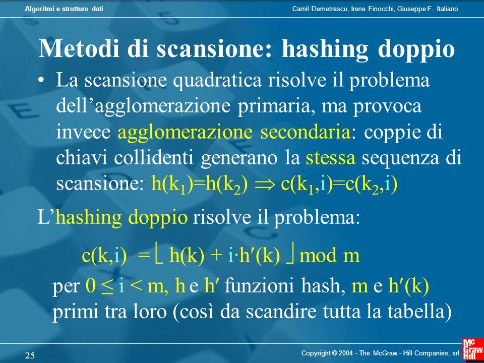 Metodi di scansione: hashing doppio