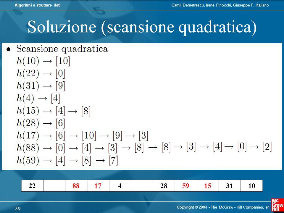 Soluzione (scansione quadratica)