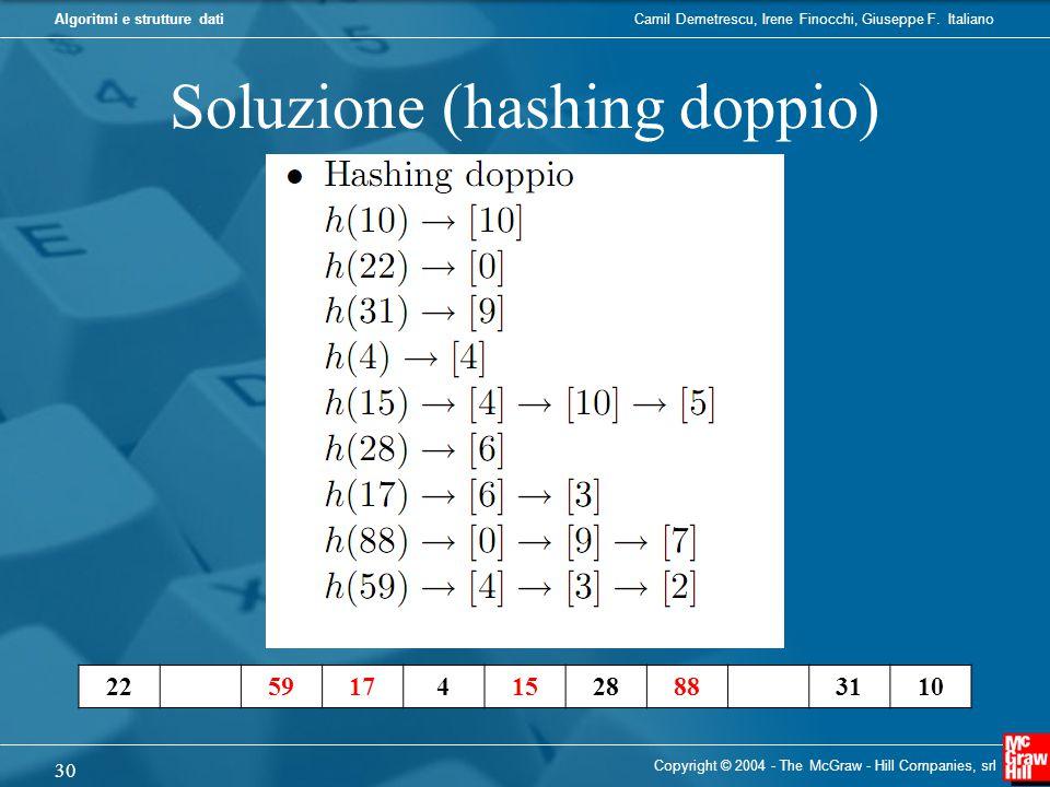 Soluzione (hashing doppio)