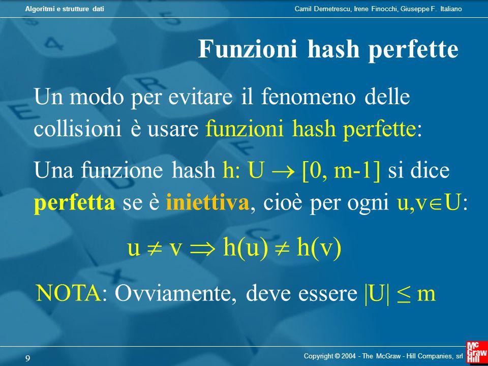 Funzioni hash perfette