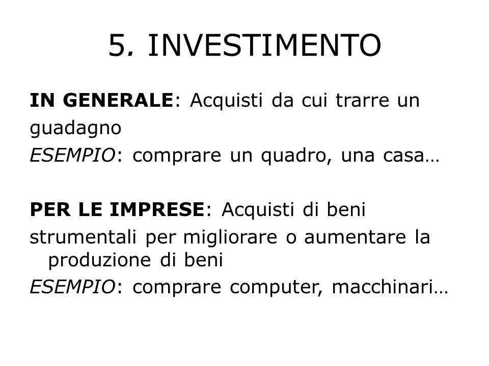 5. INVESTIMENTO