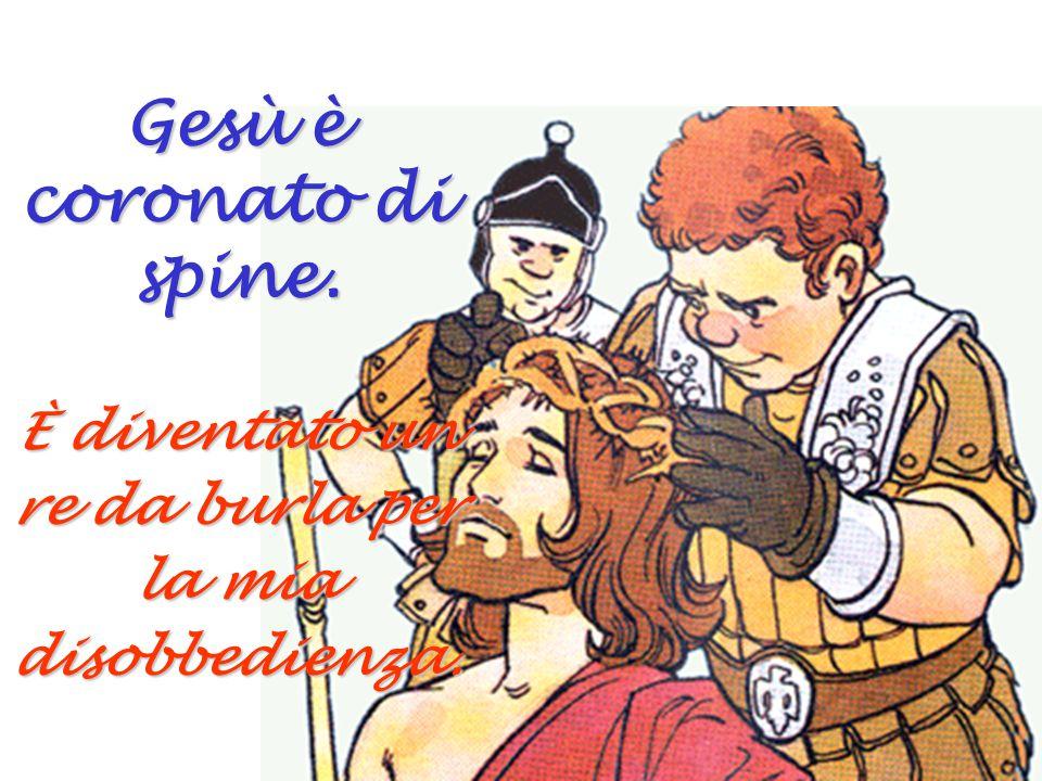 Gesù è coronato di spine.