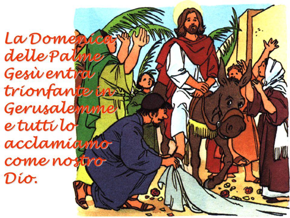 La Domenica delle Palme Gesù entra trionfante in Gerusalemme e tutti lo acclamiamo come nostro Dio.