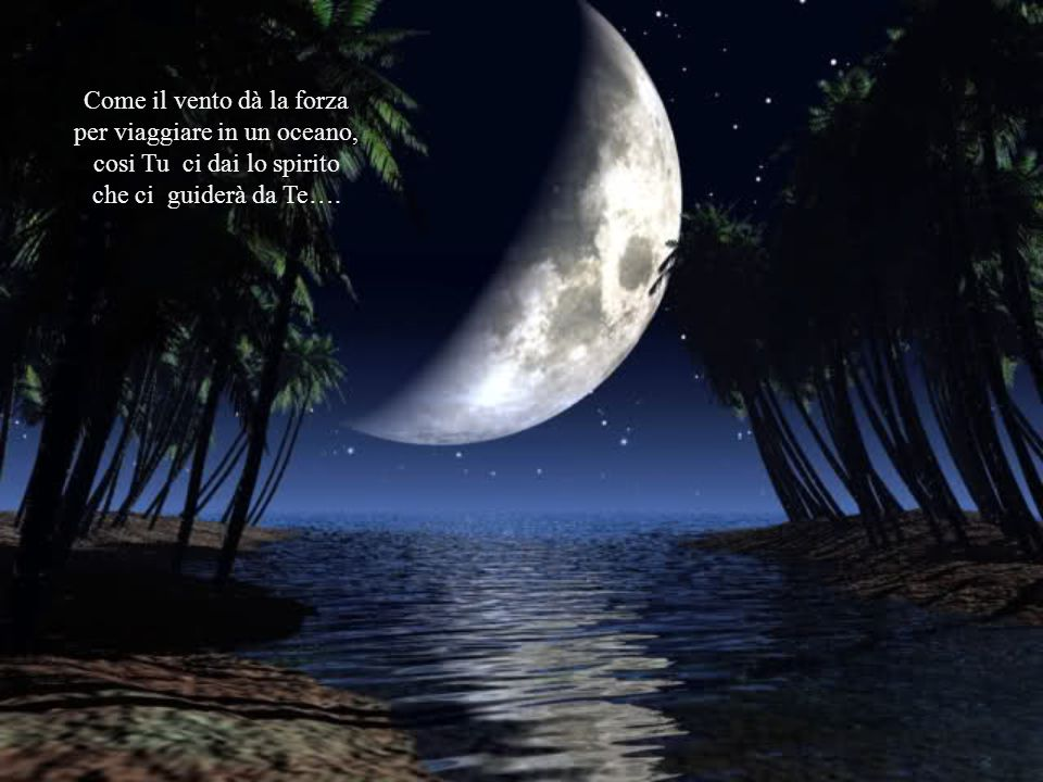 Come il vento dà la forza per viaggiare in un oceano,