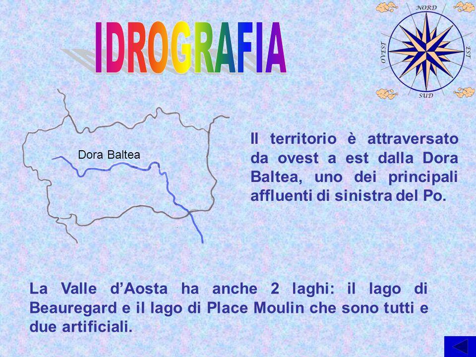 IDROGRAFIA Il territorio è attraversato da ovest a est dalla Dora Baltea, uno dei principali affluenti di sinistra del Po.