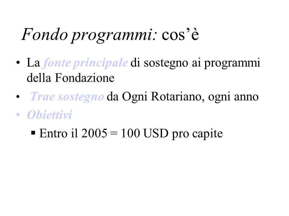 Fondo programmi: cos'è
