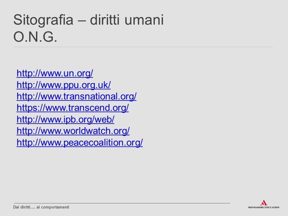 Sitografia – diritti umani O.N.G.