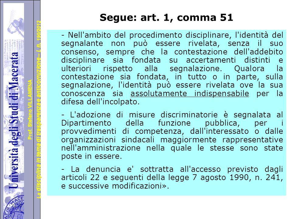 Segue: art. 1, comma 51