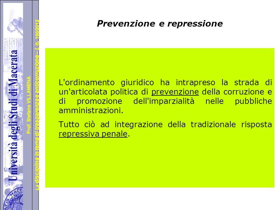Prevenzione e repressione