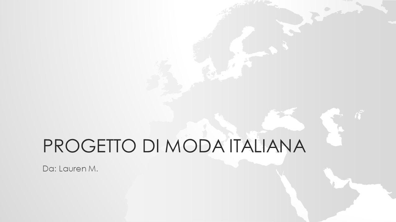 Progetto di moda italiana