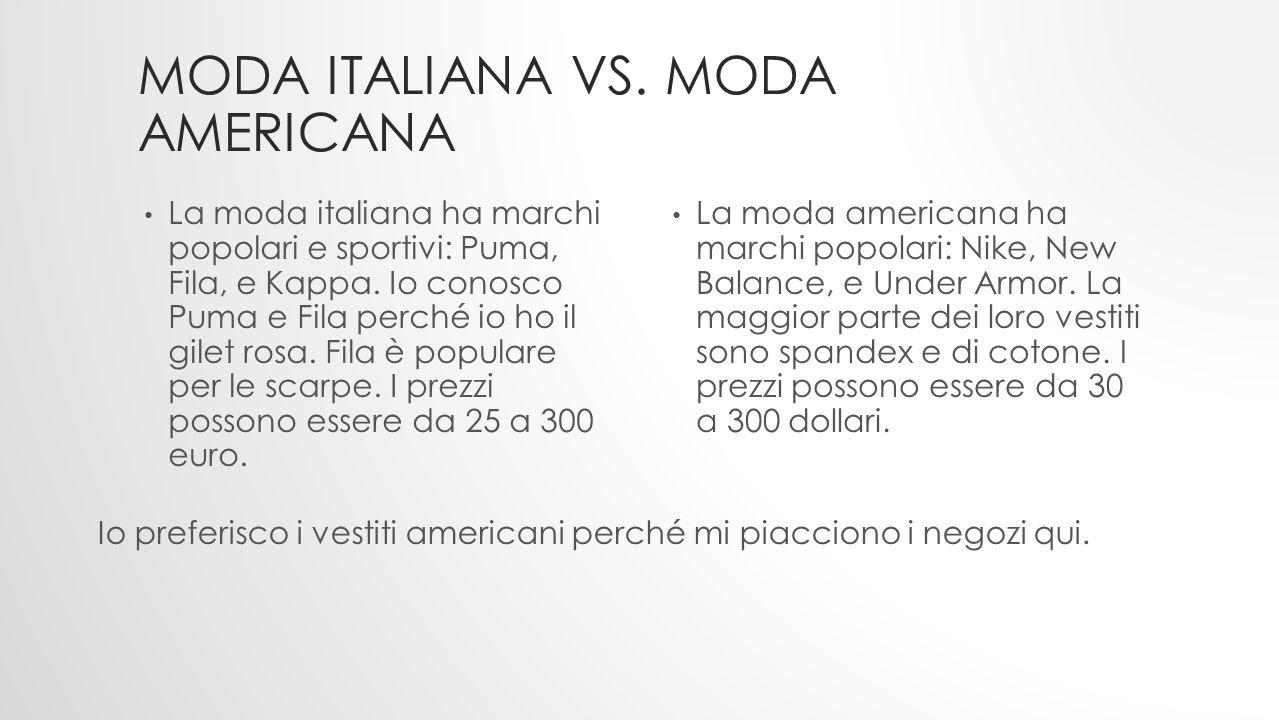 Moda italiana vs. moda americana
