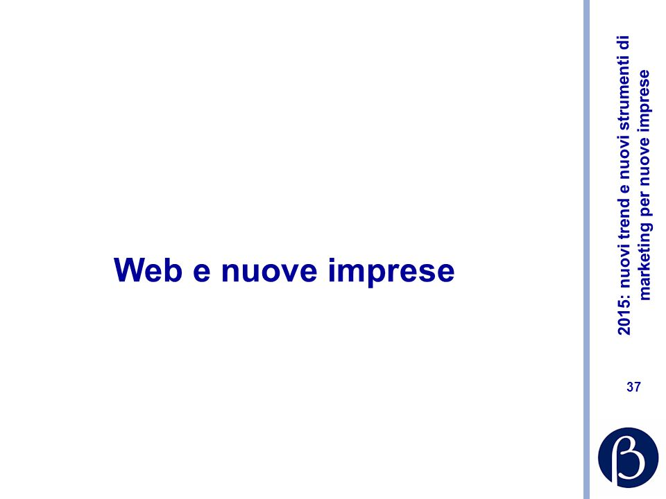 Web e nuove imprese
