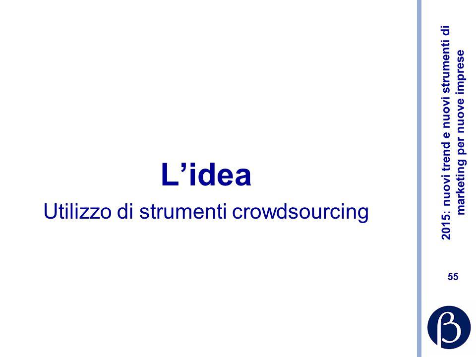 L'idea Utilizzo di strumenti crowdsourcing
