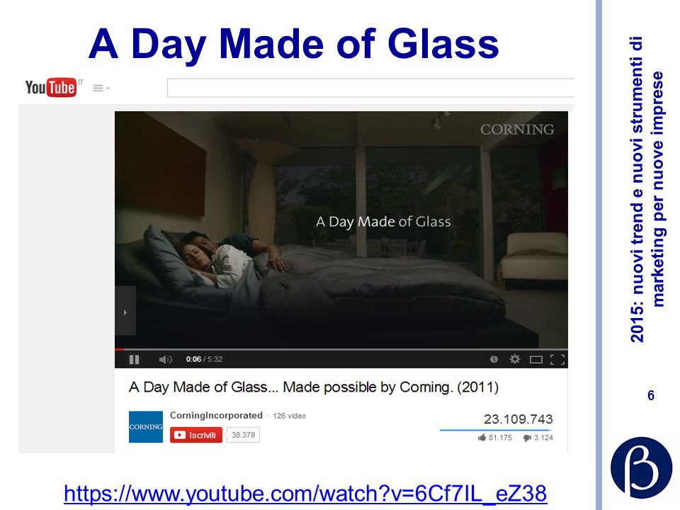 A Day Made of Glass https://www.youtube.com/watch v=6Cf7IL_eZ38