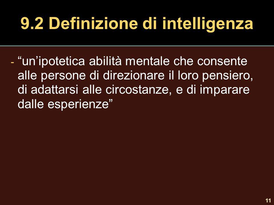 9.2 Definizione di intelligenza