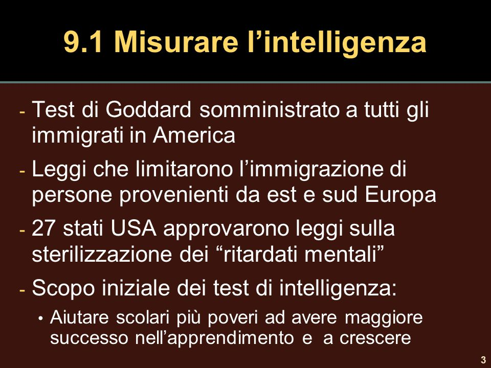 9.1 Misurare l'intelligenza