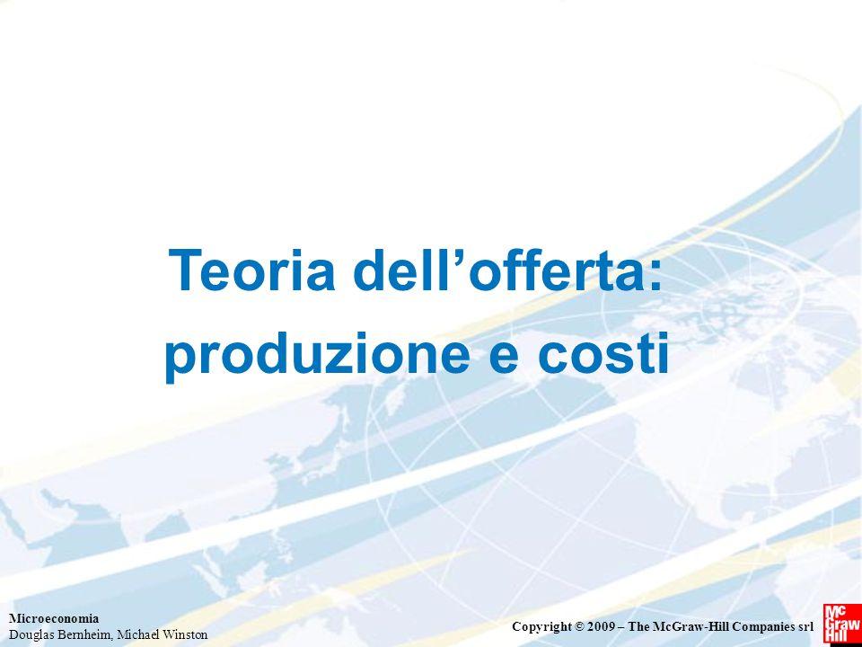Teoria dell'offerta: produzione e costi
