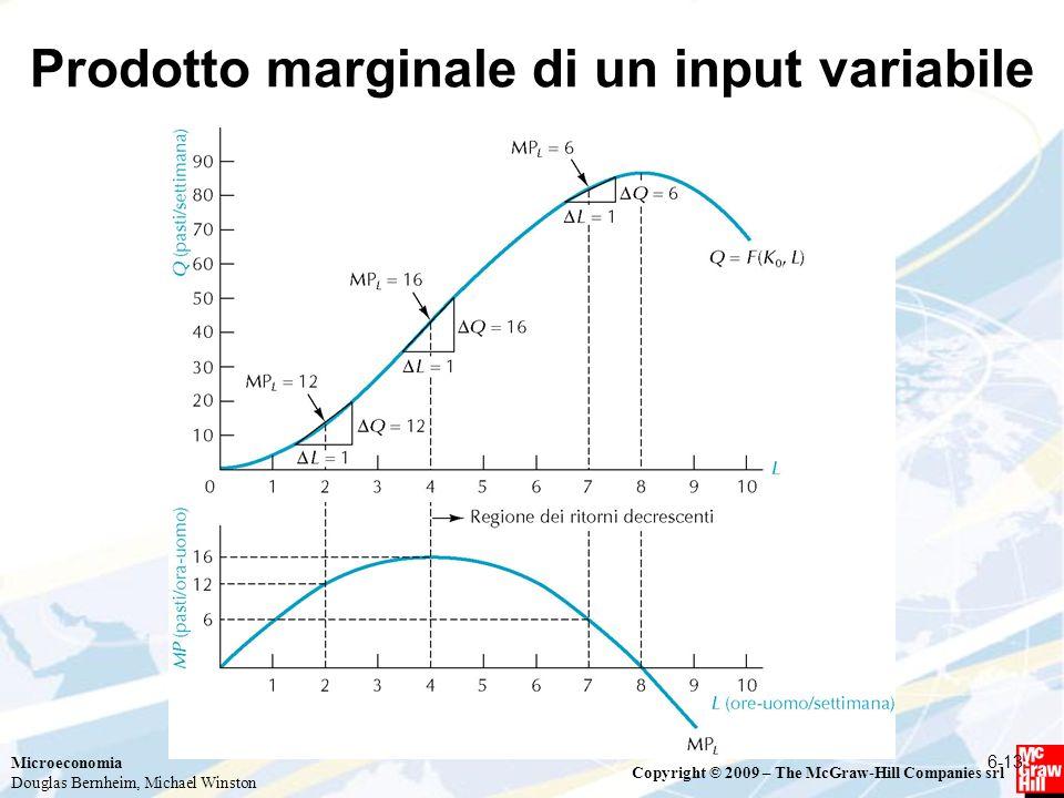 Prodotto marginale di un input variabile