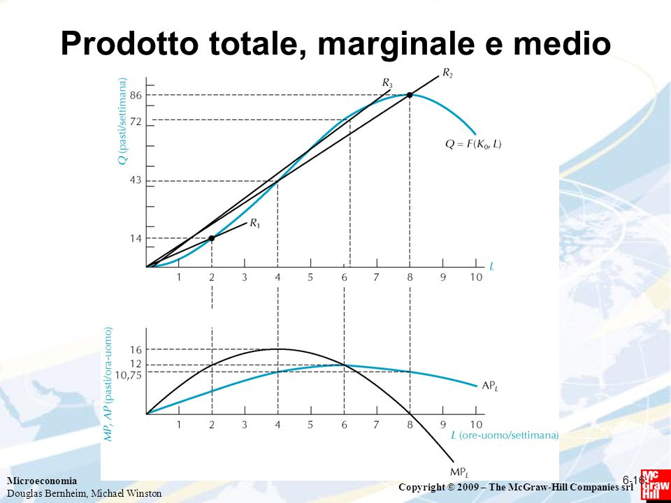 Prodotto totale, marginale e medio