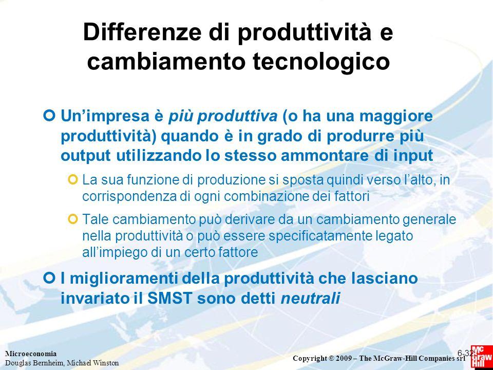 Differenze di produttività e cambiamento tecnologico