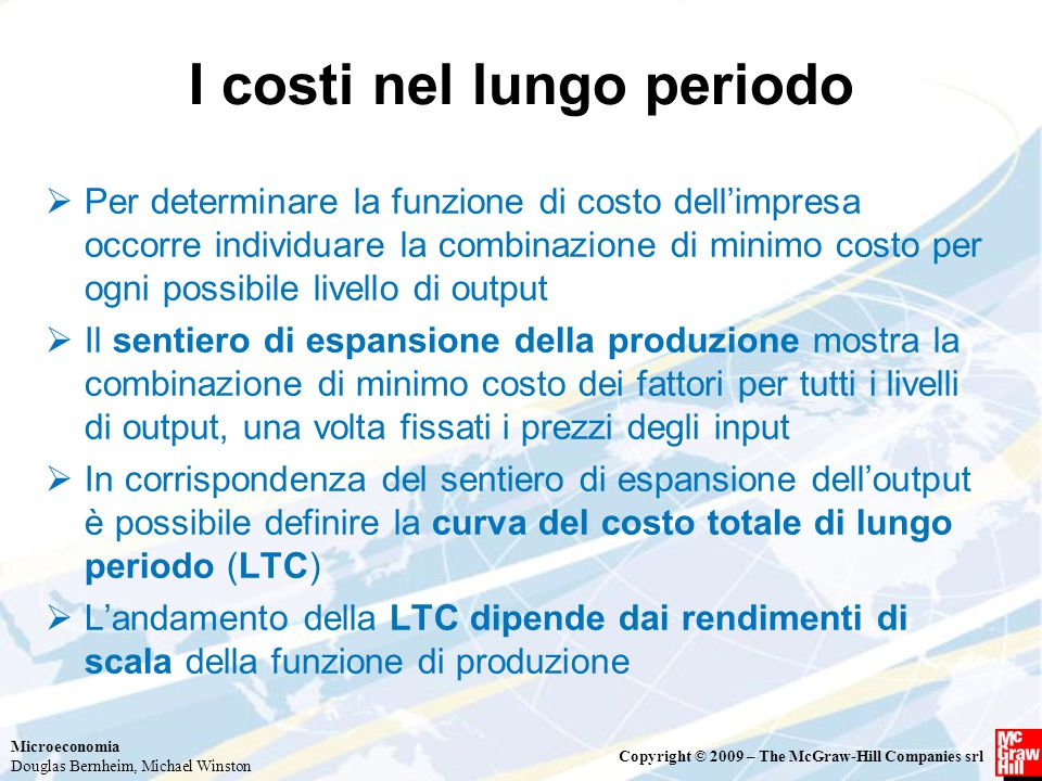 I costi nel lungo periodo