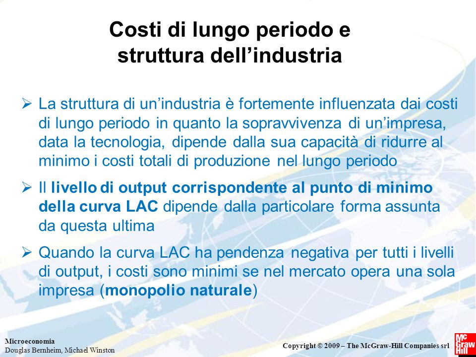 Costi di lungo periodo e struttura dell'industria