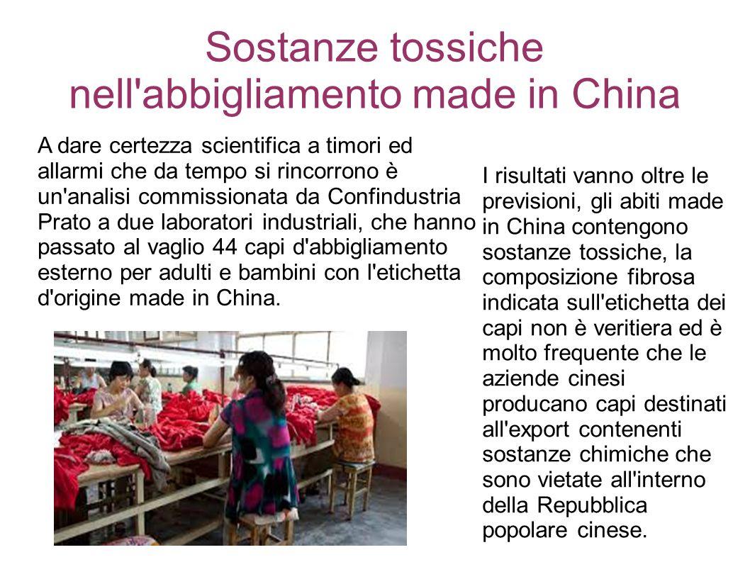 Sostanze tossiche nell abbigliamento made in China