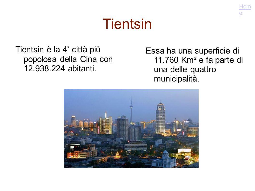 Home Tientsin. Tientsin è la 4° città più popolosa della Cina con 12.938.224 abitanti.