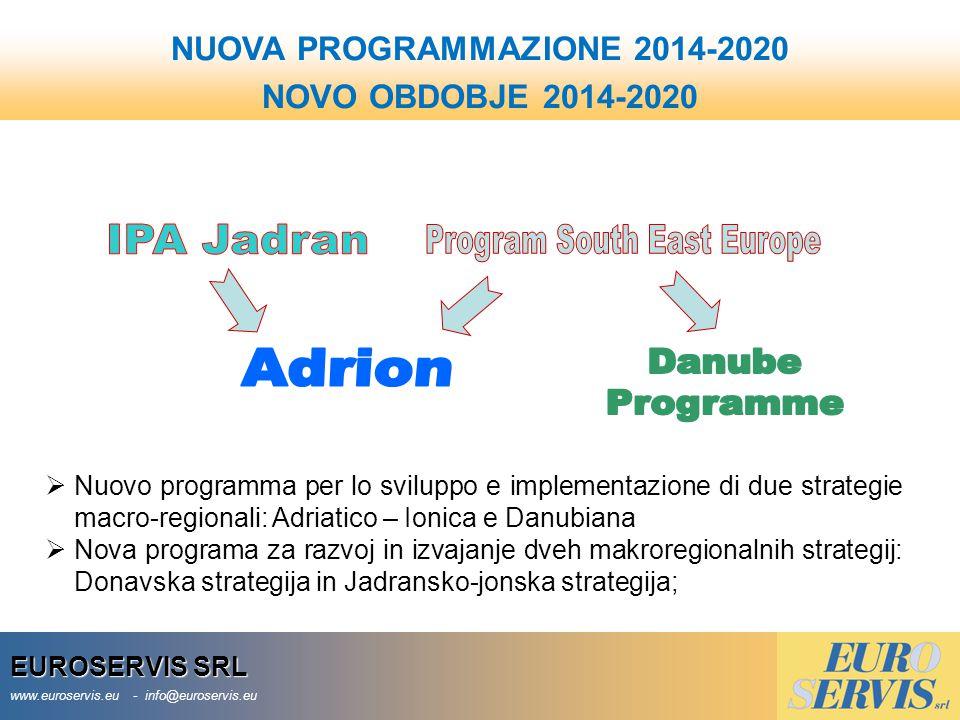 NUOVA PROGRAMMAZIONE 2014-2020