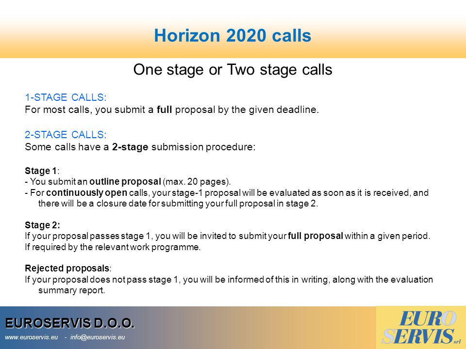 One stage or Two stage calls
