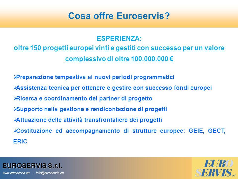 Cosa offre Euroservis ESPERIENZA: