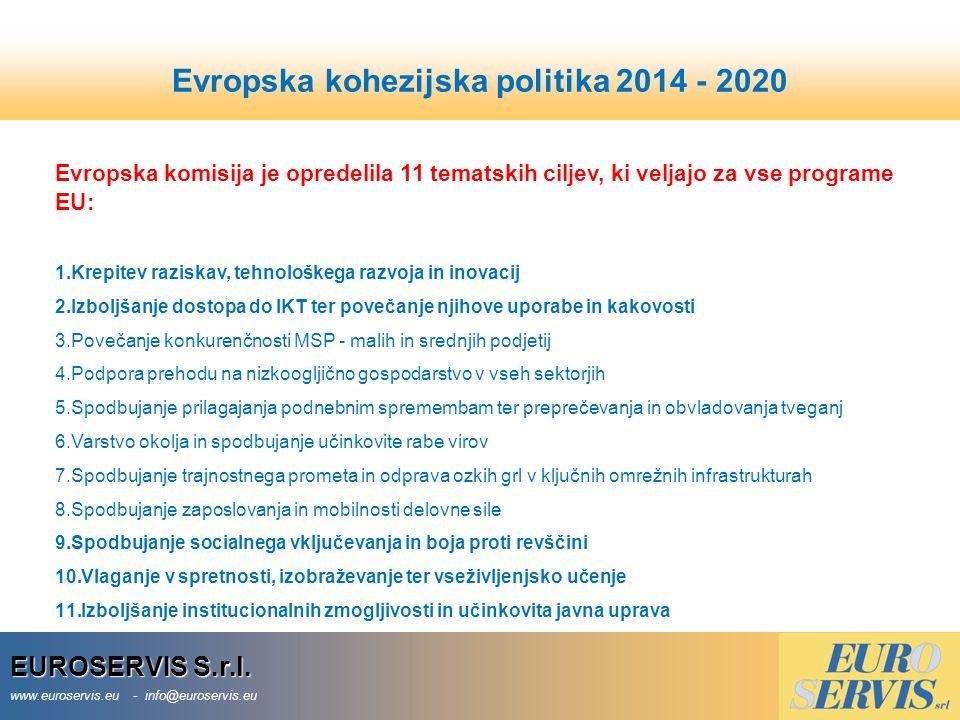 Evropska kohezijska politika 2014 - 2020