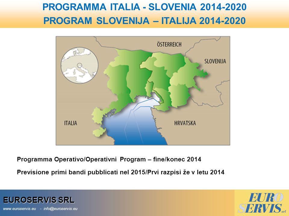 PROGRAMMA ITALIA - SLOVENIA 2014-2020