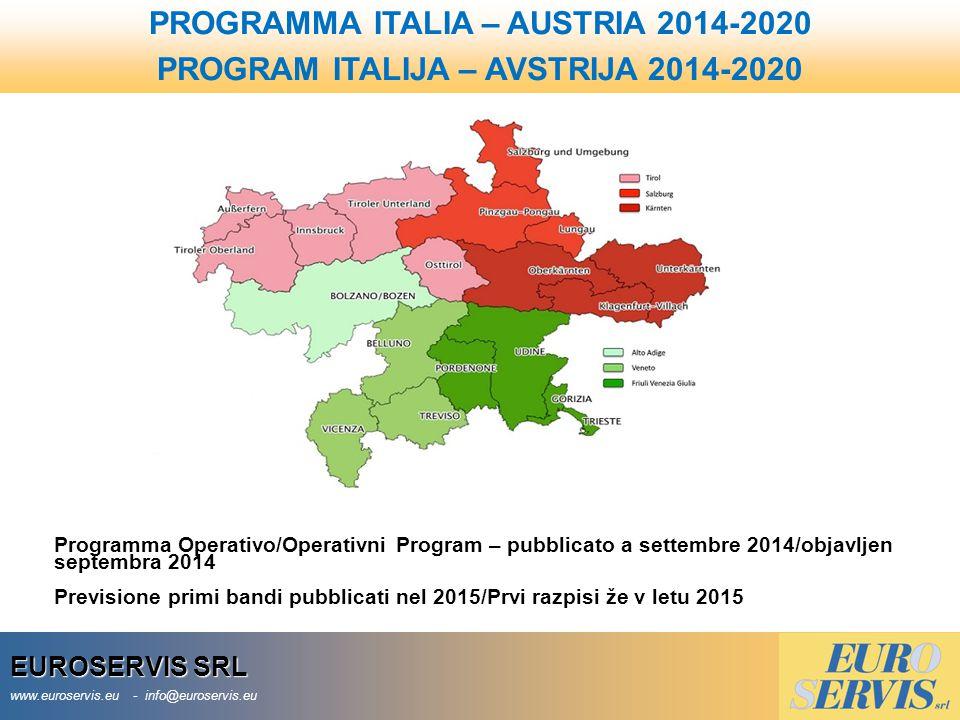 PROGRAMMA ITALIA – AUSTRIA 2014-2020