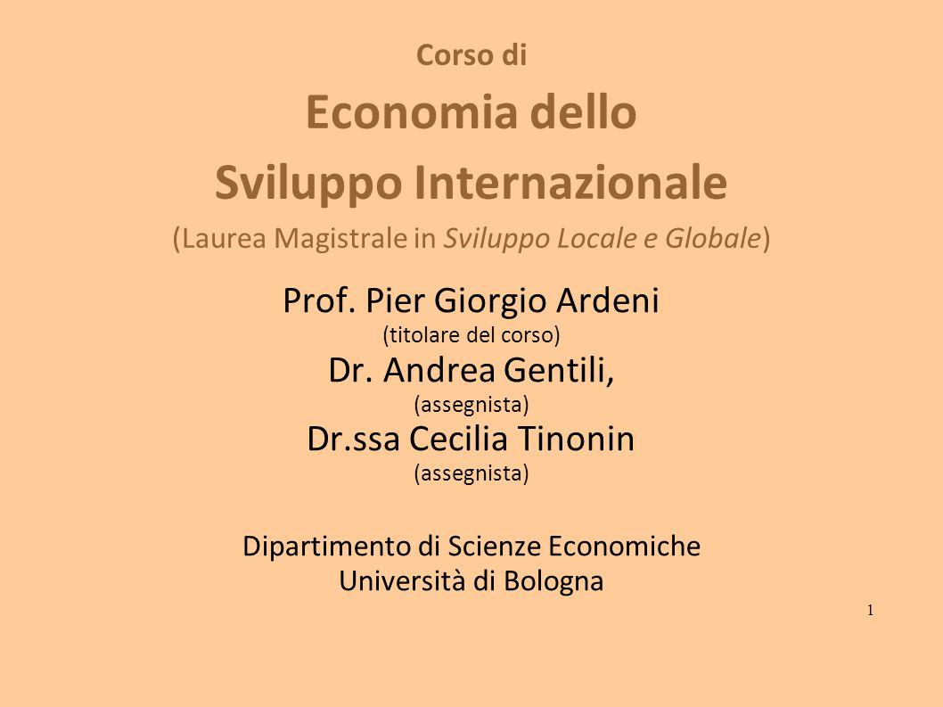 Prof. Pier Giorgio Ardeni Dr. Andrea Gentili, Dr.ssa Cecilia Tinonin
