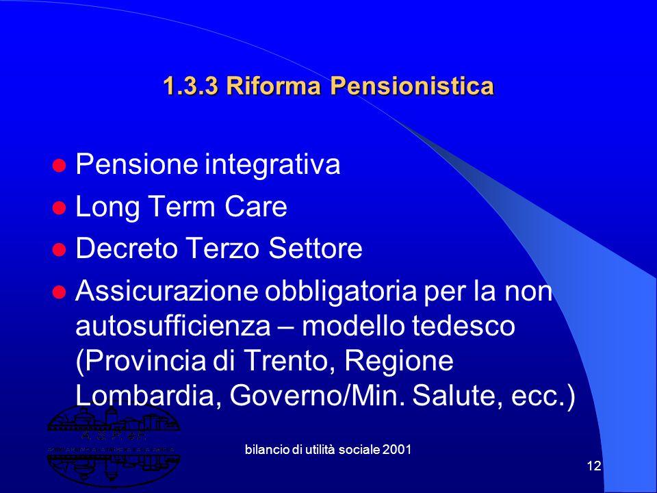 1.3.3 Riforma Pensionistica