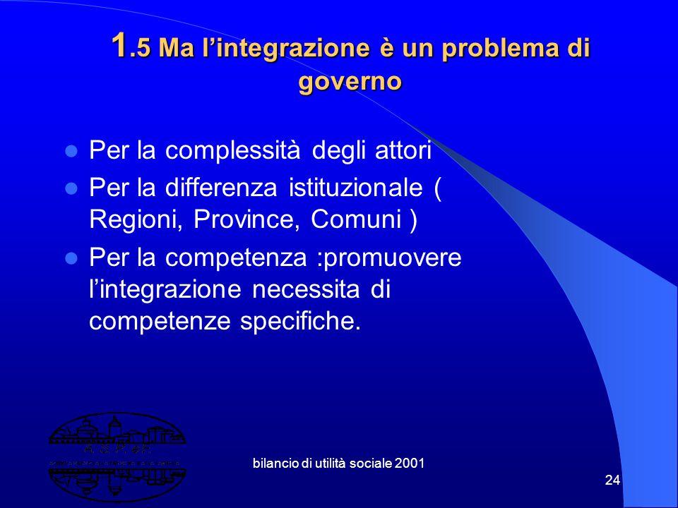 1.5 Ma l'integrazione è un problema di governo