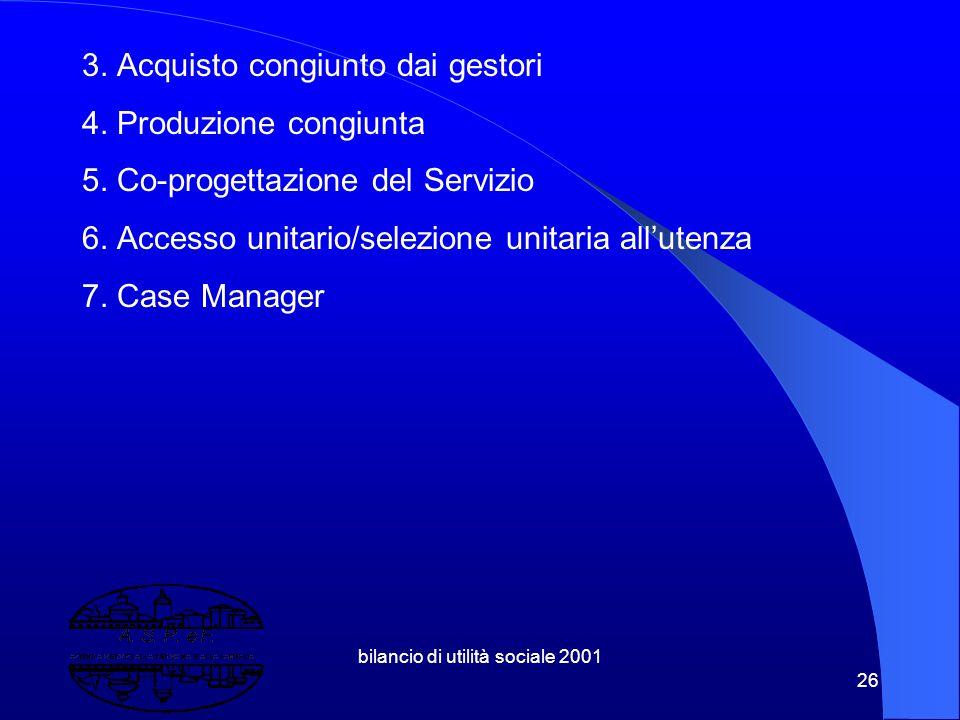 bilancio di utilità sociale 2001