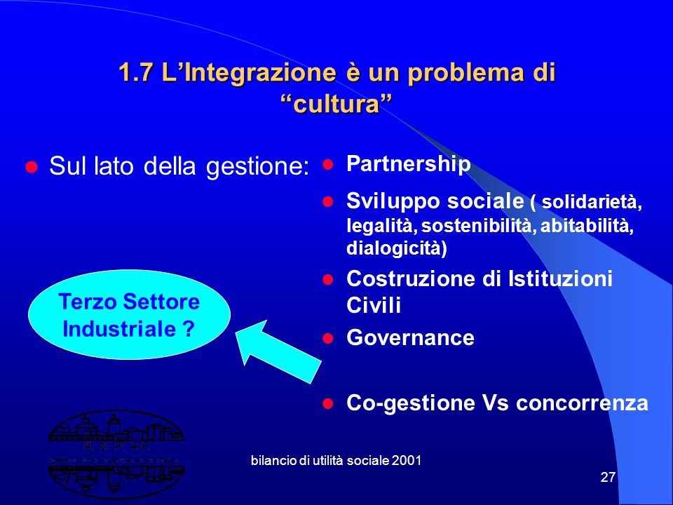 1.7 L'Integrazione è un problema di cultura
