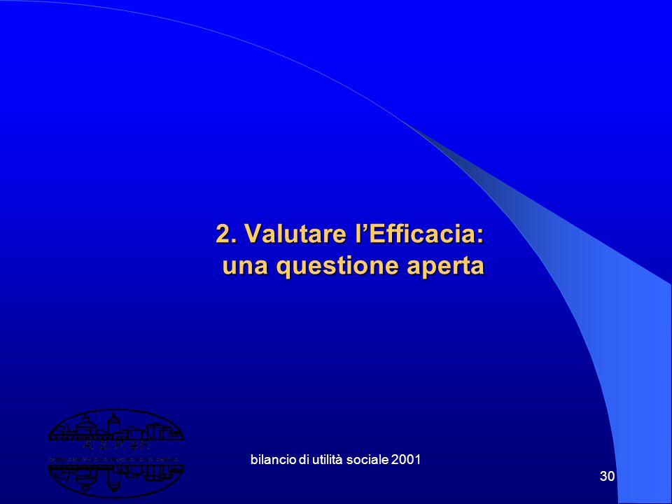 2. Valutare l'Efficacia: una questione aperta